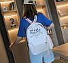 Стильные тканевые рюкзаки для школы  с линейкой, фото 2