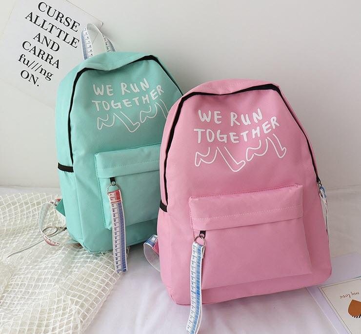 Стильные тканевые рюкзаки для школы  с линейкой