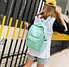 Стильные тканевые рюкзаки для школы  с линейкой, фото 4