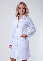 "Распродажа Медицинский халат женский 42 размер ""Health Life"" коттон белый 3103"