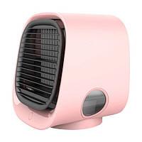Вентилятор для охлаждения воздуха, настольный мини-кондиционер с ночным светильником M201, мини USB Розовый