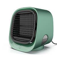 Вентилятор для охлаждения воздуха, настольный мини-кондиционер с ночным светильником M201, мини USB Зелёный