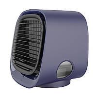 Вентилятор для охлаждения воздуха, настольный мини-кондиционер с ночным светильником M201, мини USB Синий