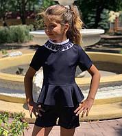 Костюм для дівчинки двійка (шорти+блузка) 122-146см