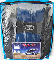 Автомобильные чехлы Daewoo Lanos 1997- (синие) Nika Авточехлы Дэу Ланос 1997- (синие) Ника модельный комплект