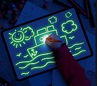 """Детский интерактивный набор для рисования в темноте """"Рисуй светом"""" А3 (30х43 см)"""