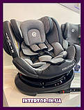 Детское автокресло с системой Isofix от рождения до 12 лет, El Camino Evolution 360º Royal Beige бежевый, фото 10