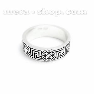 Кольцо Свадебник Рысич оберег из серебра (ширина 8 мм)