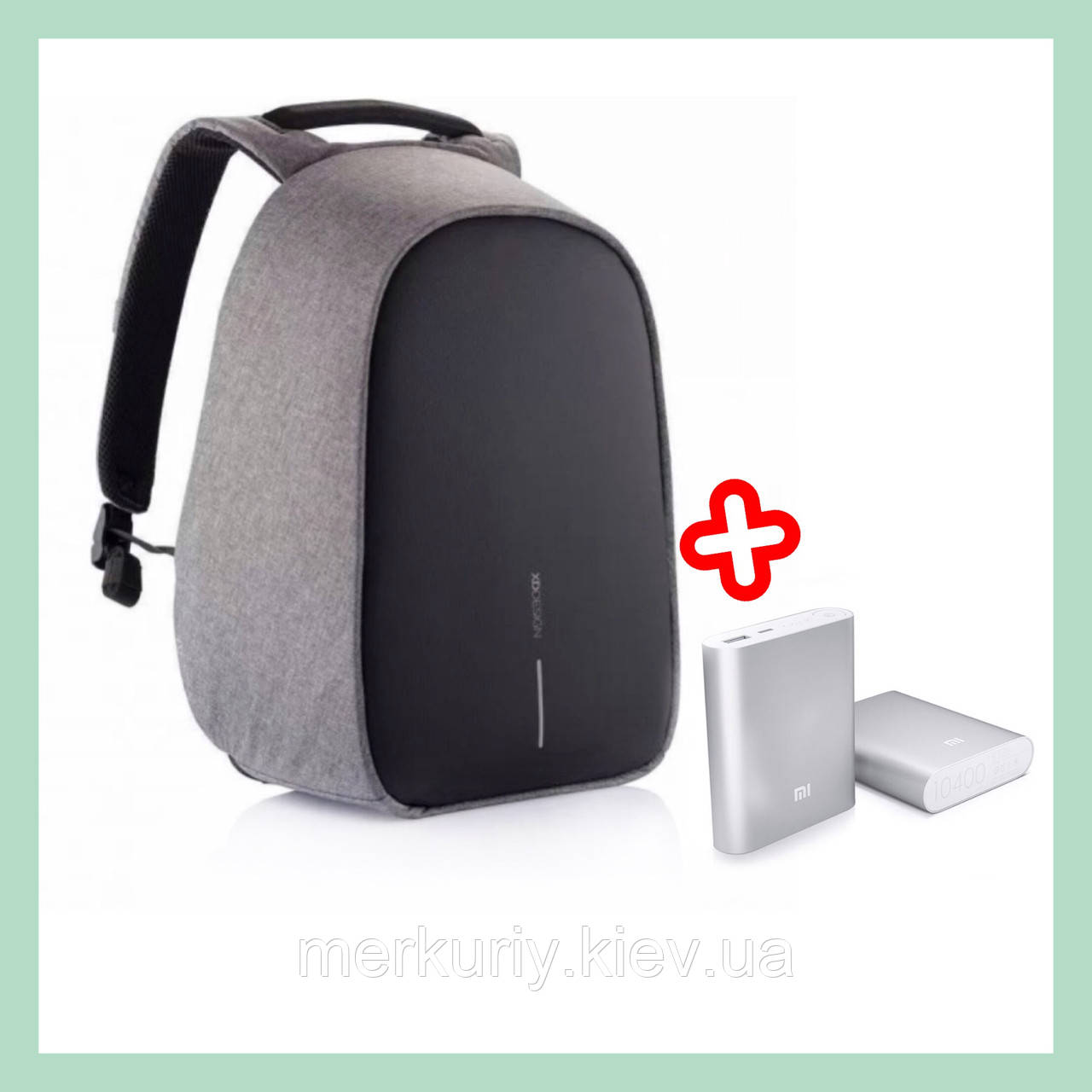 Шкільний рюкзак протикрадій Bobby з USB портом XD design