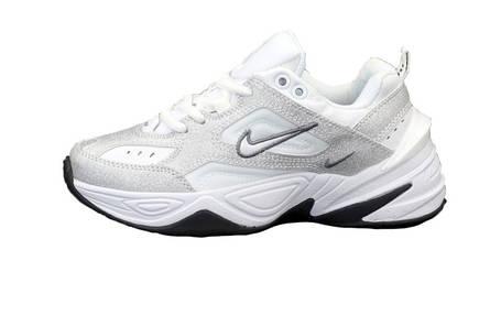 Женские кроссовки Nike W M2K Tekno White/Silver/Black, фото 2