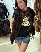 женская норковая жилетка 6600 гривен