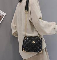 Элегантная стеганная сумка сундук, фото 2