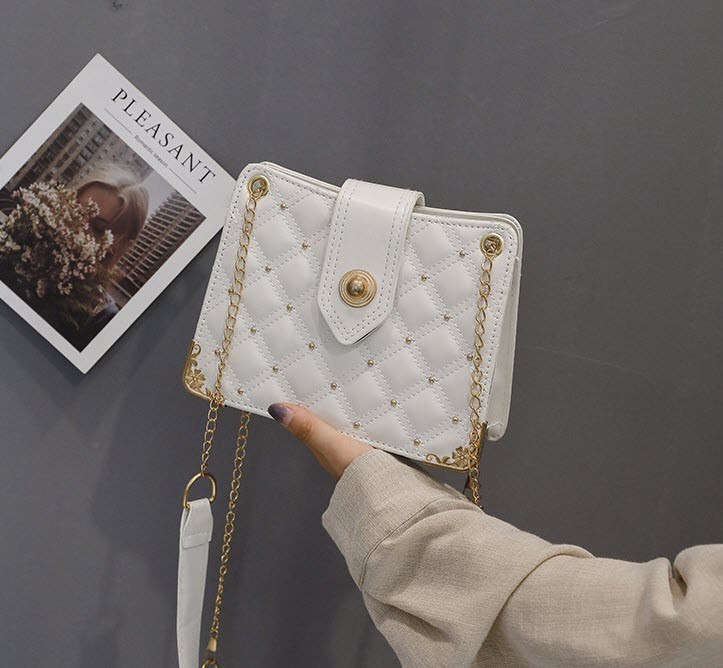 Элегантная стеганная сумка сундук