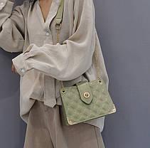 Элегантная стеганная сумка сундук, фото 3
