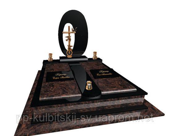 Пам'ятник подвійний елітний з граніту Р400.100