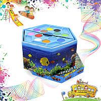 Детский набор акварельные краски и карандаши 46 предметов в коробке