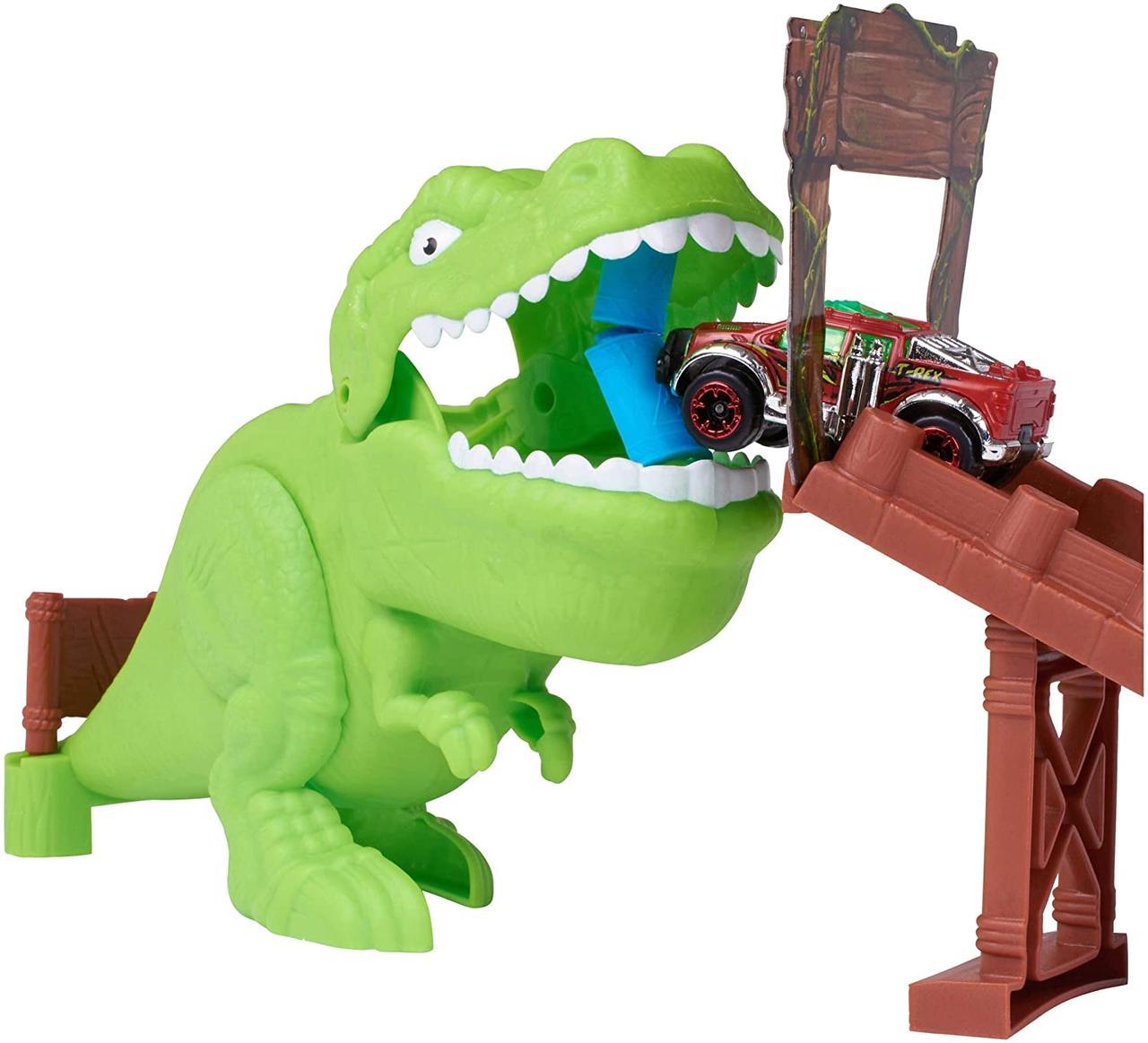 Трек Сила двойного кольца с динозавром T-Rex Adventure Force Double Loop Chomp and Crunch