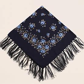 Хустка вовняна темно-синя т80/149