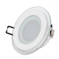 LED Светильник встр. стекло HOROZ ELECTRIC (круг) CLARA 6W 4200K d-96мм