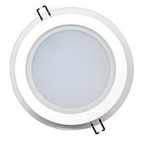 LED Светильник встр. стекло HOROZ ELECTRIC (круг) CLARA 15W 6400K d-200мм