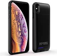 Чехол-аккумулятор Power Bank - Чехол Battery Case iPhone Xs max 5000 mAh Черный