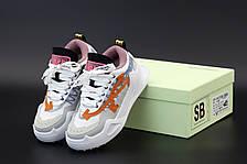 Жіночі кросівки OFF-WHITE ODSY-1000 Beige/Orange, фото 3