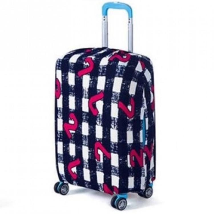 Чехол накидка для чемодана Bonro маленький S черно-белый