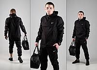 Анорак + Штаны + Подарок барсетка Nike | спортивный костюм мужской осенний весенний Найк черный