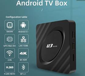 Смарт приставка Android TV box U3 2/16gb