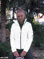 Женская рефлективная светоотражающая куртка С, М +большой размер
