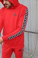 Спортивный костюм мужской красный Kappa
