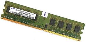 Оперативная память Samsung DDR2 2Gb 800MHz PC2 6400U CL6 (M378T5663EH3-CF7) Б/У