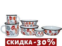 Набор посуды Epos Cat детский 8 предметов эмалированая сталь (№163 Cat)