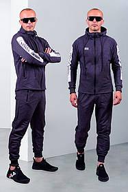 Мужской спортивный трикотажный костюм антрацит