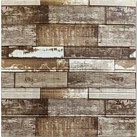 3д панель стеновой декоративный Дерево Коричневое (самоклеющиеся 3d панели для стен оригинал) 700x700x5 мм, фото 1