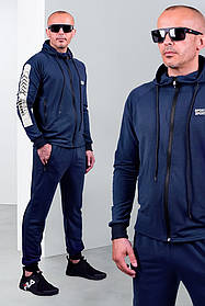 Мужской спортивный трикотажный костюм синий ХХЛ