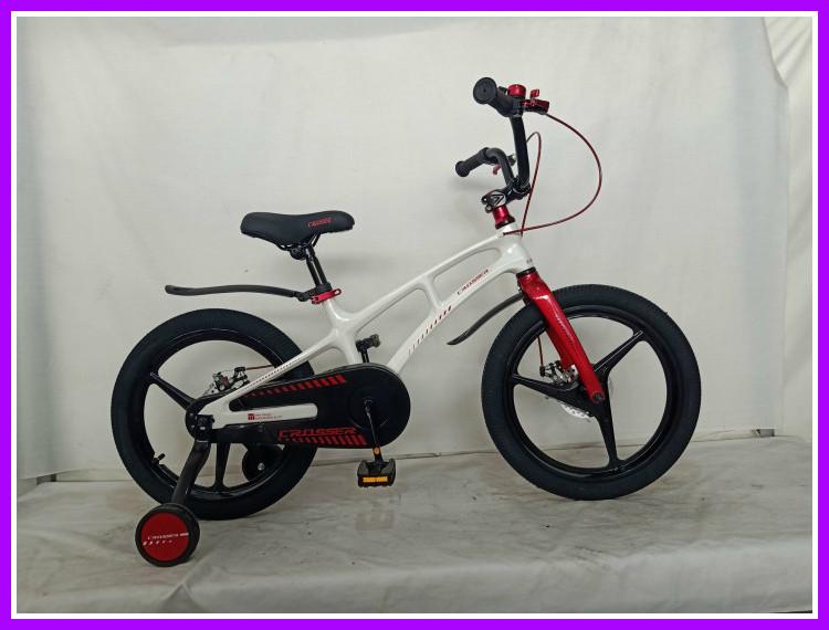 Детский  велосипед Crosser Magnesium Bike магниевая вилка колеса 18 дюймов красно-белый