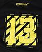 Свитшот мужской черный с желтым OFF-WHITE №13 Р-2 BLK L(Р) 19-503-201-001, фото 3