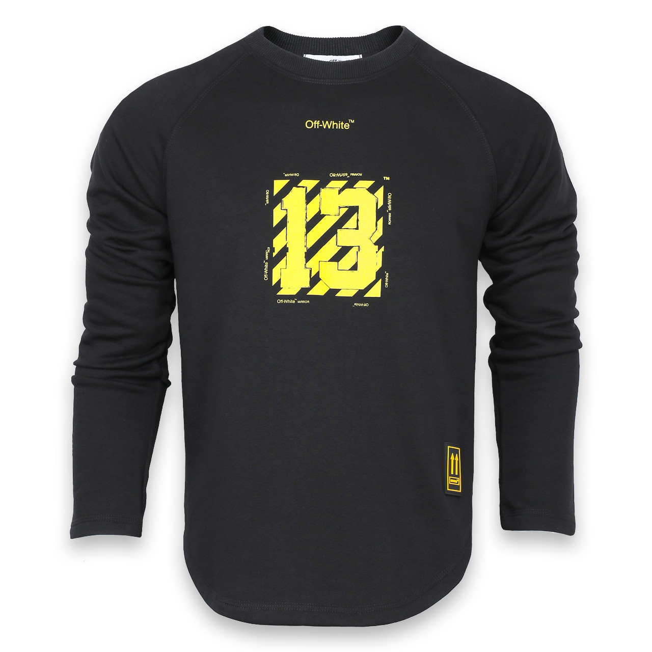 Свитшот мужской черный с желтым OFF-WHITE №13 Р-2 BLK L(Р) 19-503-201-001