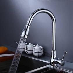 Смеситель для кухни черный и хром. Модель RD-9145 Хром