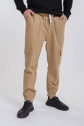 Мужские брюки-карго (Бежевый)