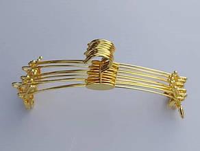 Металлические вешалки для нижнего белья, золотистые с металлическими прищепками 28 см, фото 3