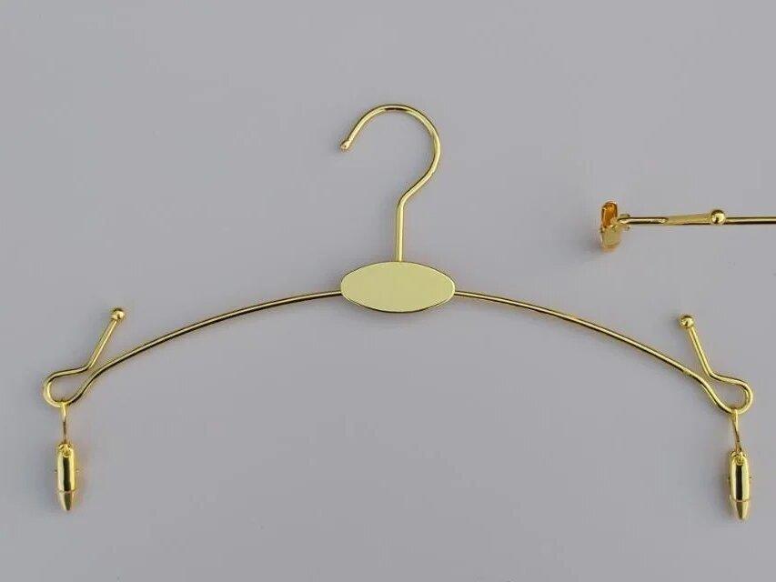 Металлические вешалки для нижнего белья, золотистые с металлическими прищепками 28 см