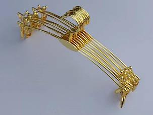 Металлические вешалки для нижнего белья, золотистые с металлическими прищепками 28 см, фото 2
