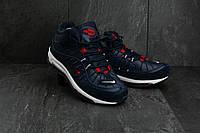 Мужские кроссовки искусственная кожа зимние синие Baas A 2113 -3