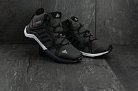 Мужские кроссовки искусственная кожа зимние черные-серые Baas A 2089 -2