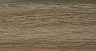 Плинтус 70мм с кабель  каналом и мягким краем BS17 Серый Дуб