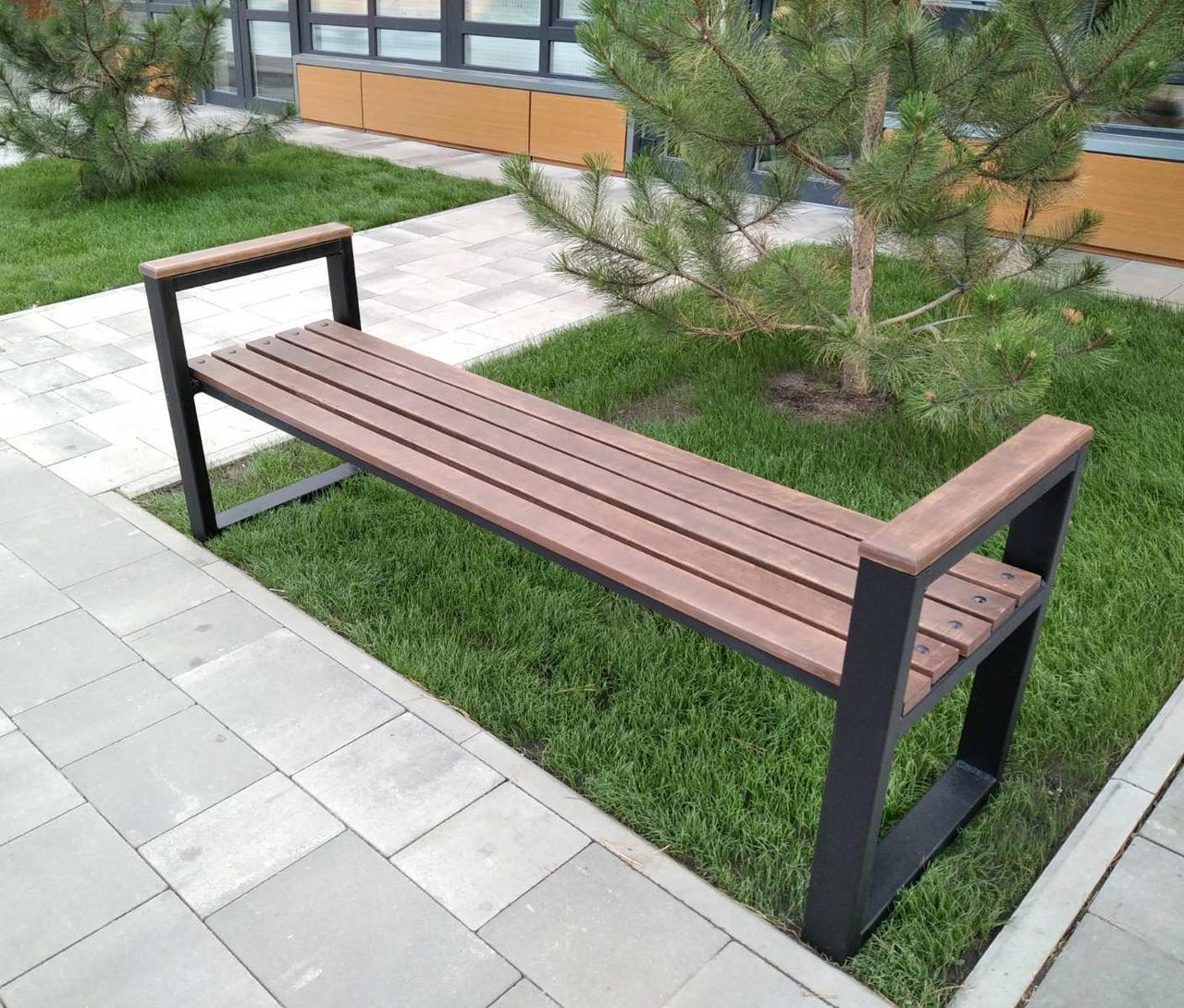 Лавочка парковая в стиле LOFT 2м DiVa05 скамья лавочка садовая скамейки