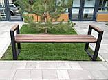 Лавочка парковая в стиле LOFT 2м DiVa05 скамья лавочка садовая скамейки, фото 2