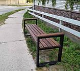 Лавочка парковая в стиле LOFT 2м DiVa05 скамья лавочка садовая скамейки, фото 3